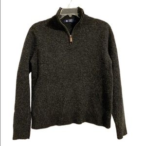 J CREW Lambswool Charcoal Gray Pullover Sweater